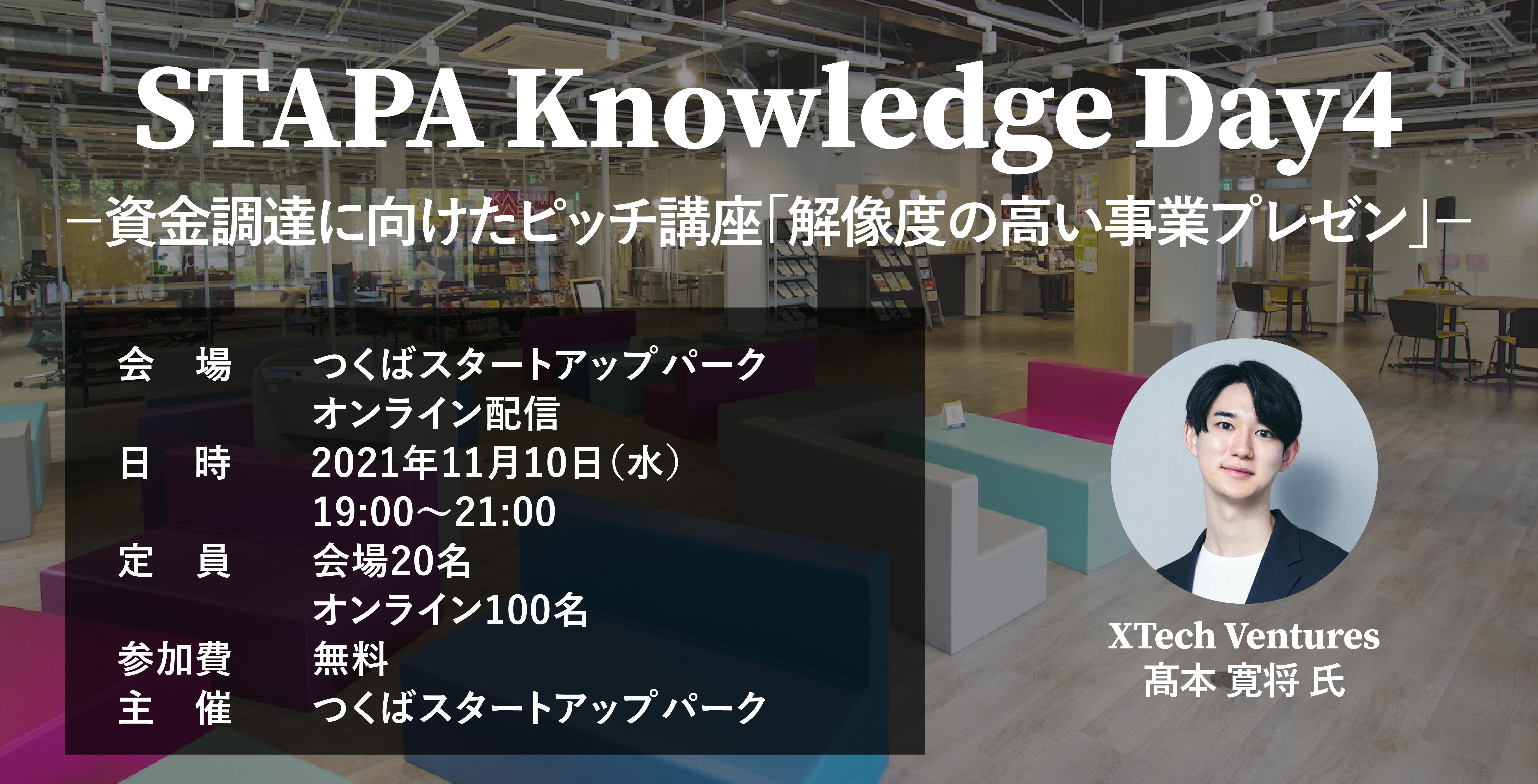 STAPA Knowledge Day4 -資金調達に向けたピッチ講座「解像度の高い事業プレゼン」-